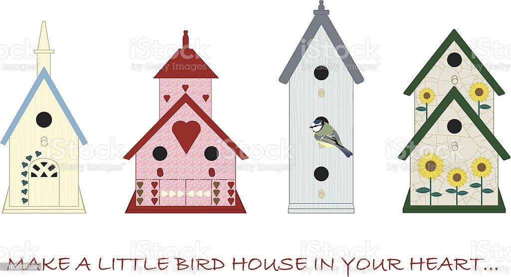 Bird houses royalty-free stock vector art