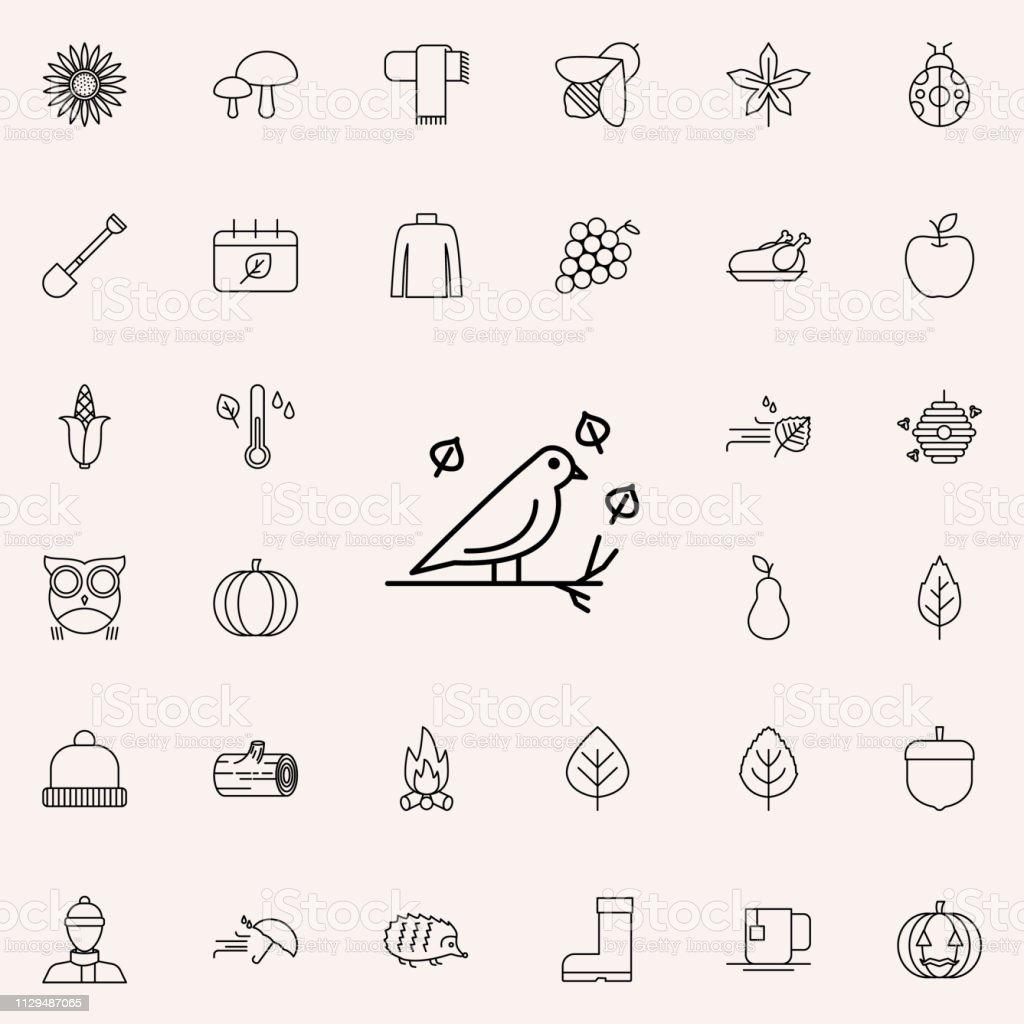 ícone de pássaro. conjunto de outono ícones universais para a web e dispositivos móveis - ilustração de arte em vetor