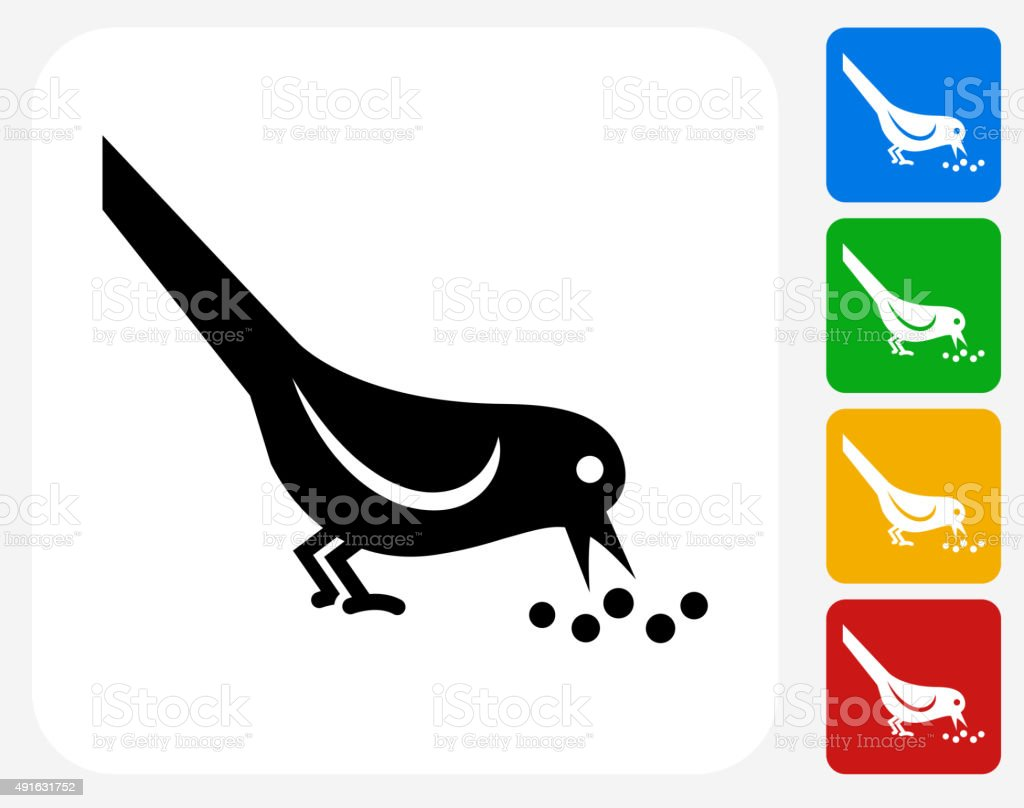 Bird Icon Flat Graphic Design vector art illustration