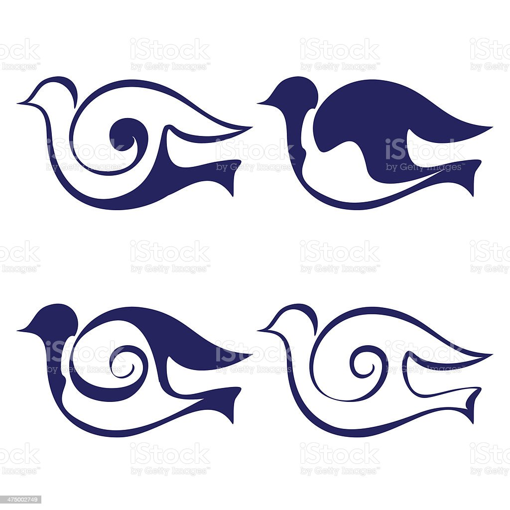 Bird icon set vector  illustration royalty-free bird icon set vector illustration stock vector art & more images of abstract