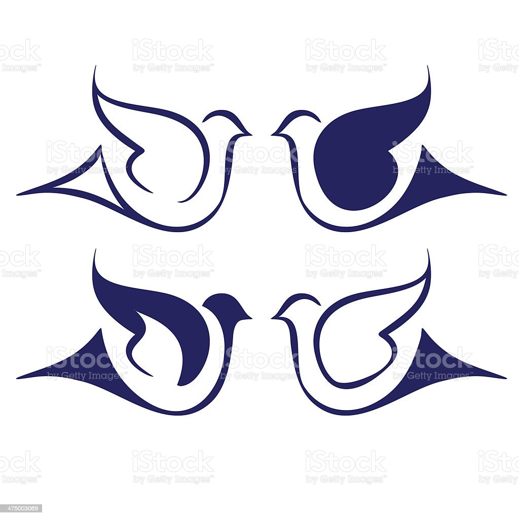 Bird icon set vector  illustration royalty-free stock vector art
