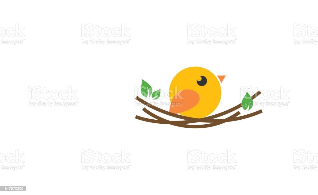 Bird icon vector art illustration