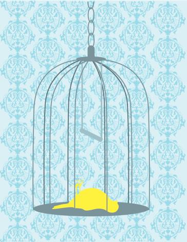 Bird in Cage Dead