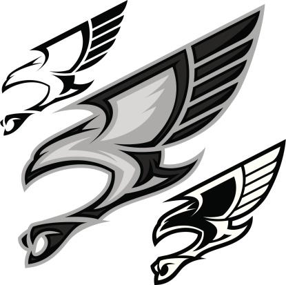Bird in Flight B&W