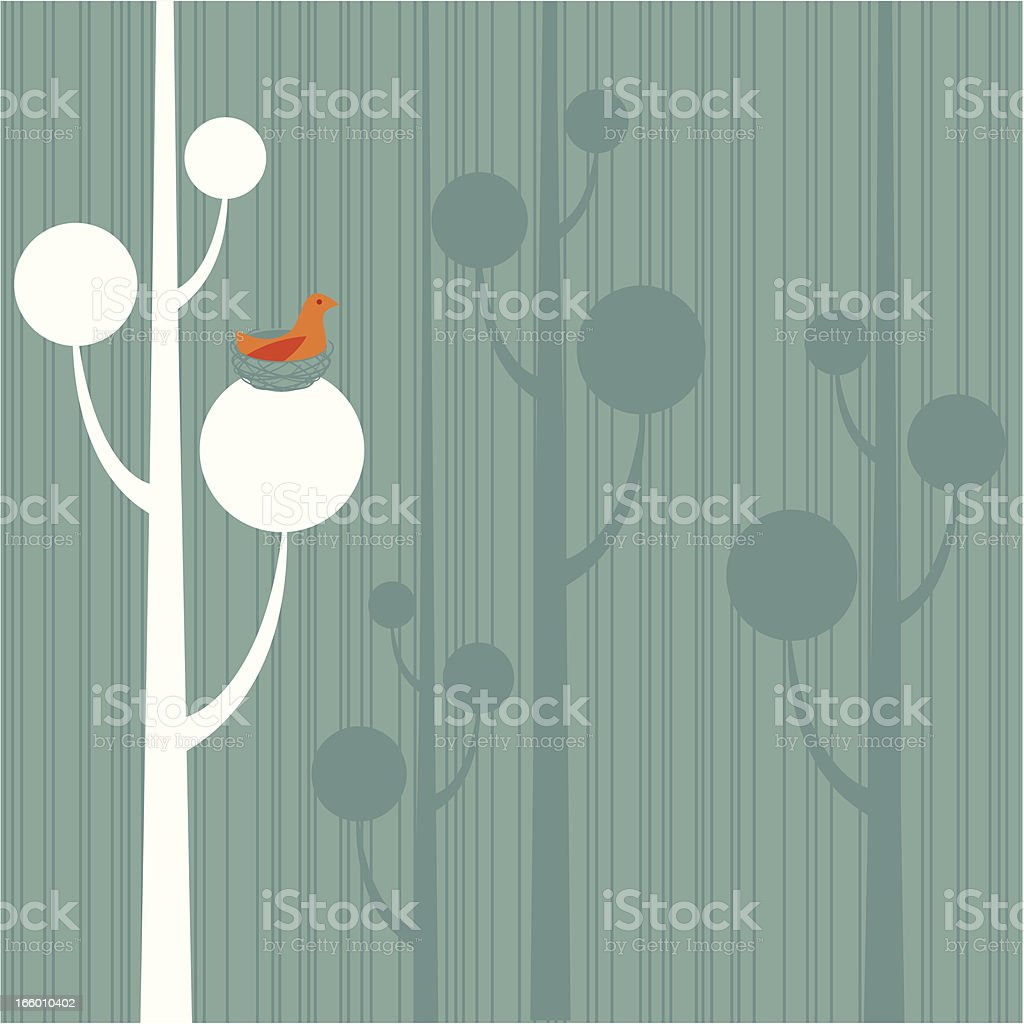 Bird in Nest Background royalty-free bird in nest background stock vector art & more images of animal nest