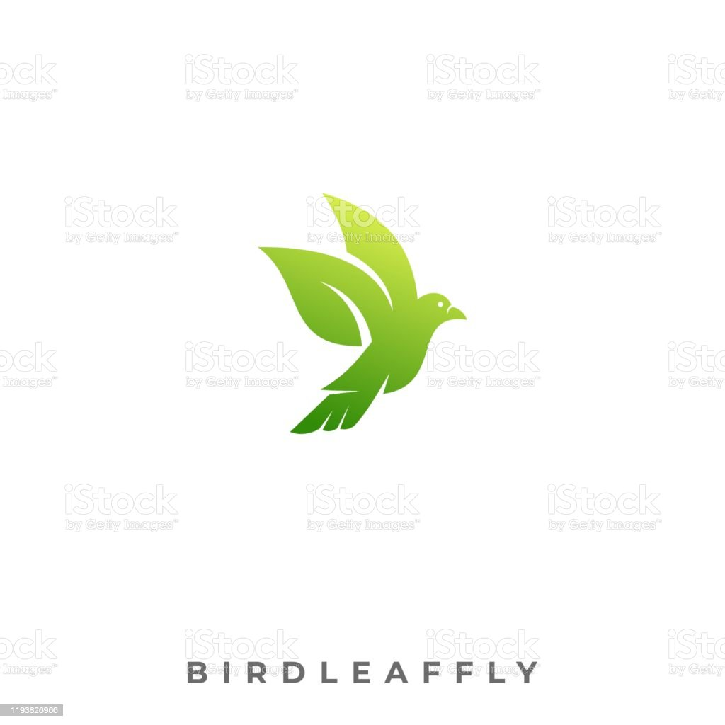Bird Leaf Flying Illustration Vector Template. Can be used for...