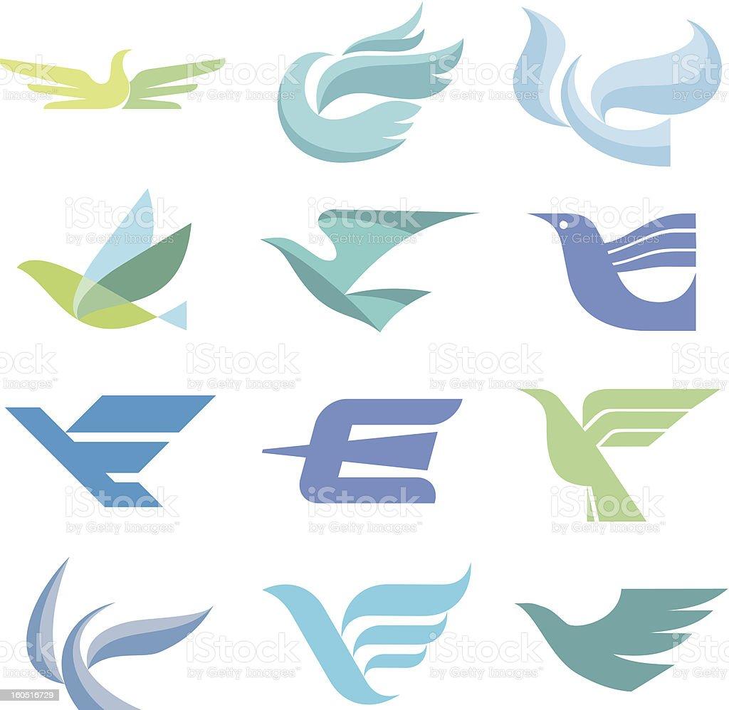 Bird Logo Signs vector art illustration