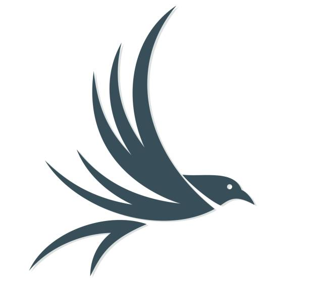 Bird logo. vector art illustration