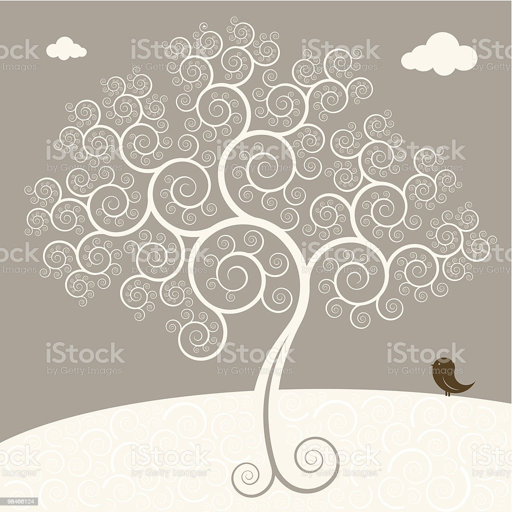 bird looks at a tree royalty-free bird looks at a tree stock vector art & more images of animal