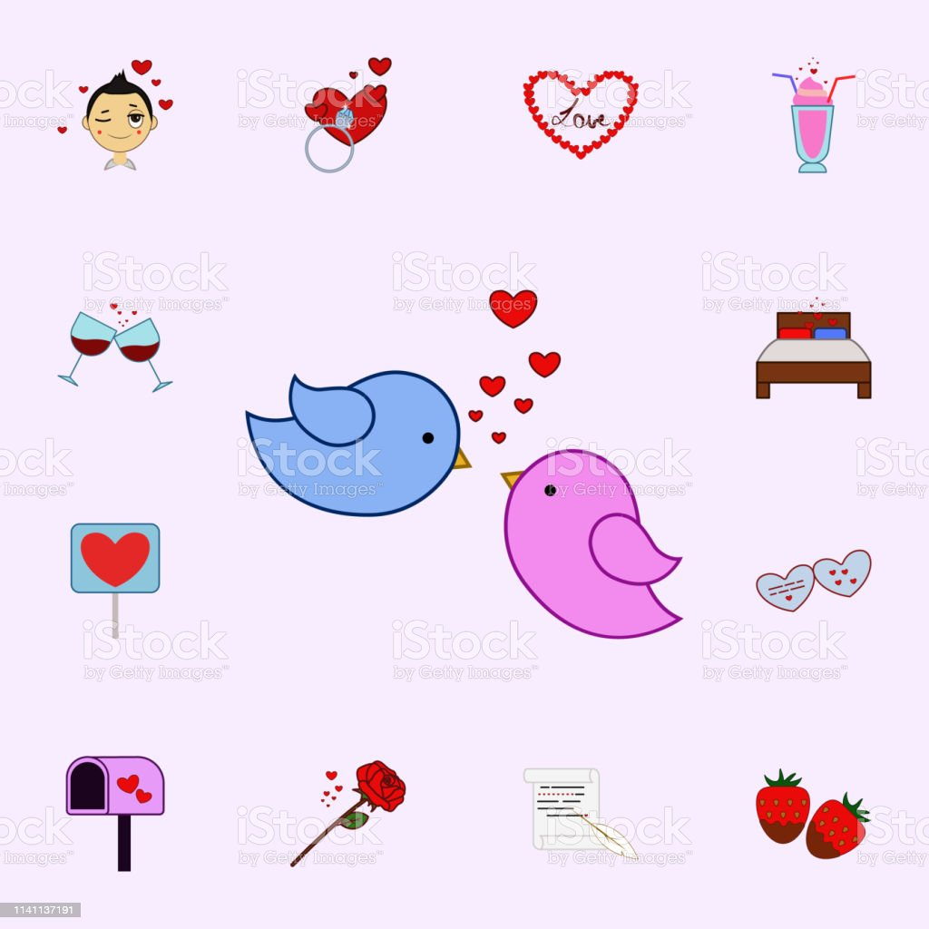 Bird, love, heart, valentine s day icon. Love icons universal set for...