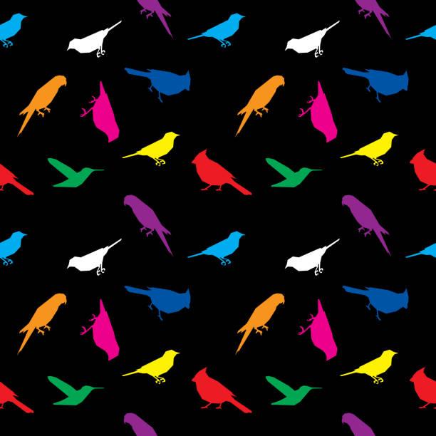Bird Low Polygon Pattern Colorful vector art illustration