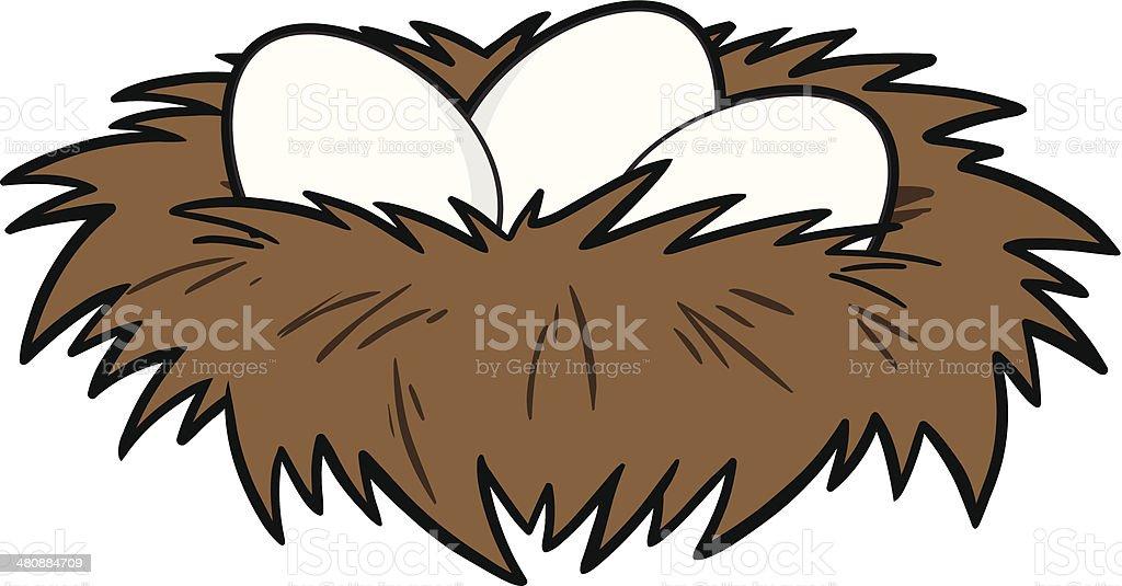 Bird Nest vector art illustration