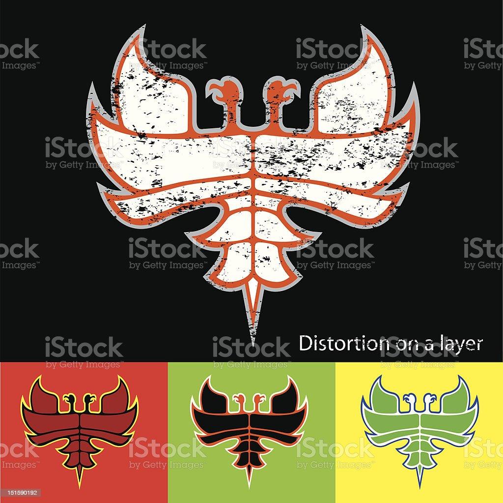 Bird of fire royalty-free stock vector art