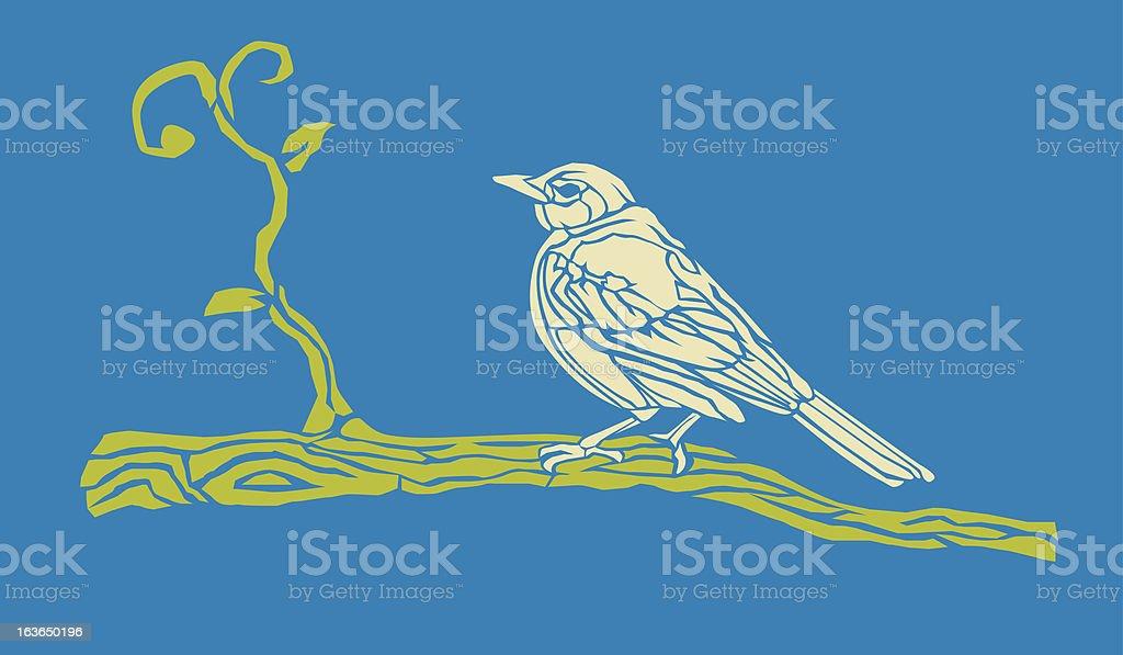 Bird on a limb royalty-free bird on a limb stock vector art & more images of bird
