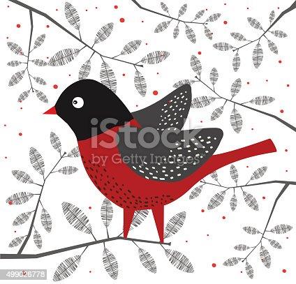 istock Bird On Branch 499026778