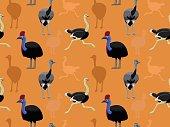 Bird Ostriches Wallpaper