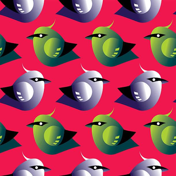Bird seamless pattern vector art illustration
