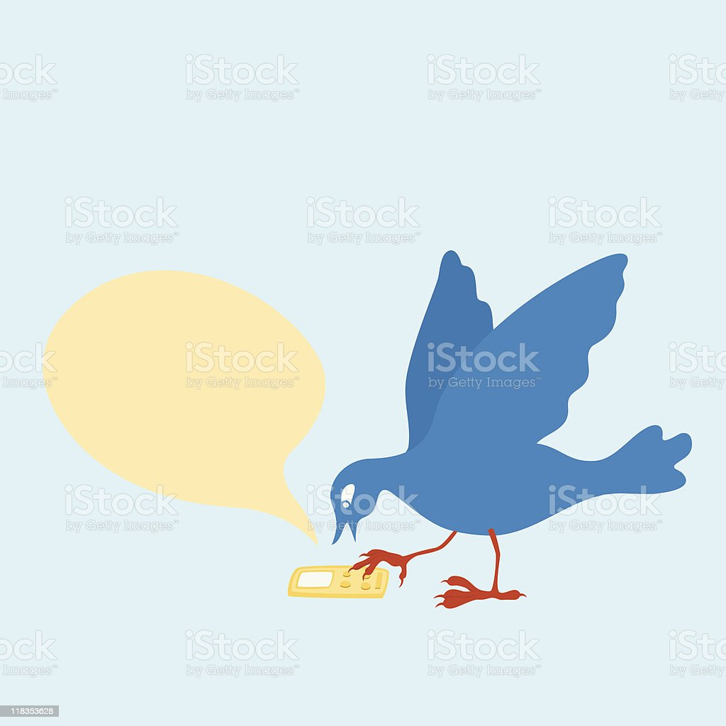 Bird Sending Text Messages royalty-free bird sending text messages stock vector art & more images of bird