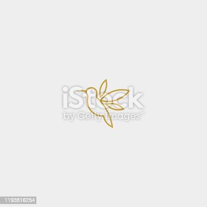 Bird Simple Vector Icon Monoline Design
