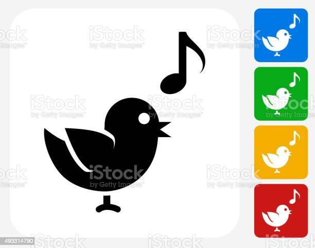 Bird singing icon flat graphic design vector id493314790?b=1&k=6&m=493314790&s=612x612&h=5ojn drs86 byhl7opx gvv0brdben9s32lmwhiig7k=