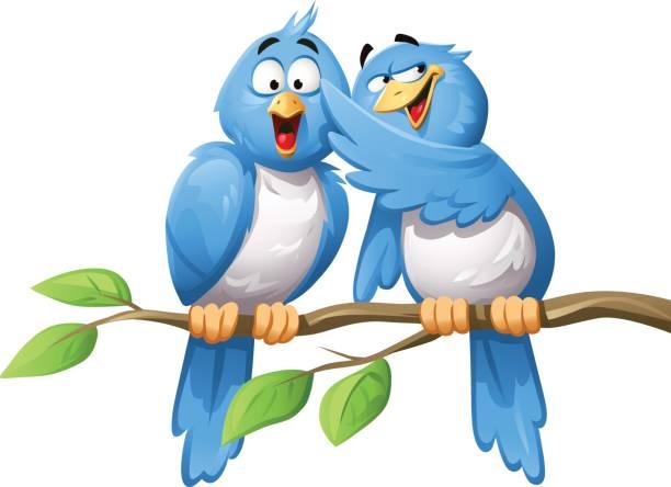 Bird Spreading Rumor vector art illustration