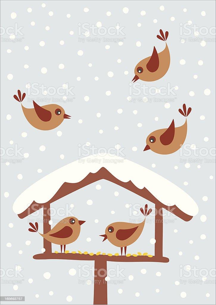 Bird table royalty-free stock vector art