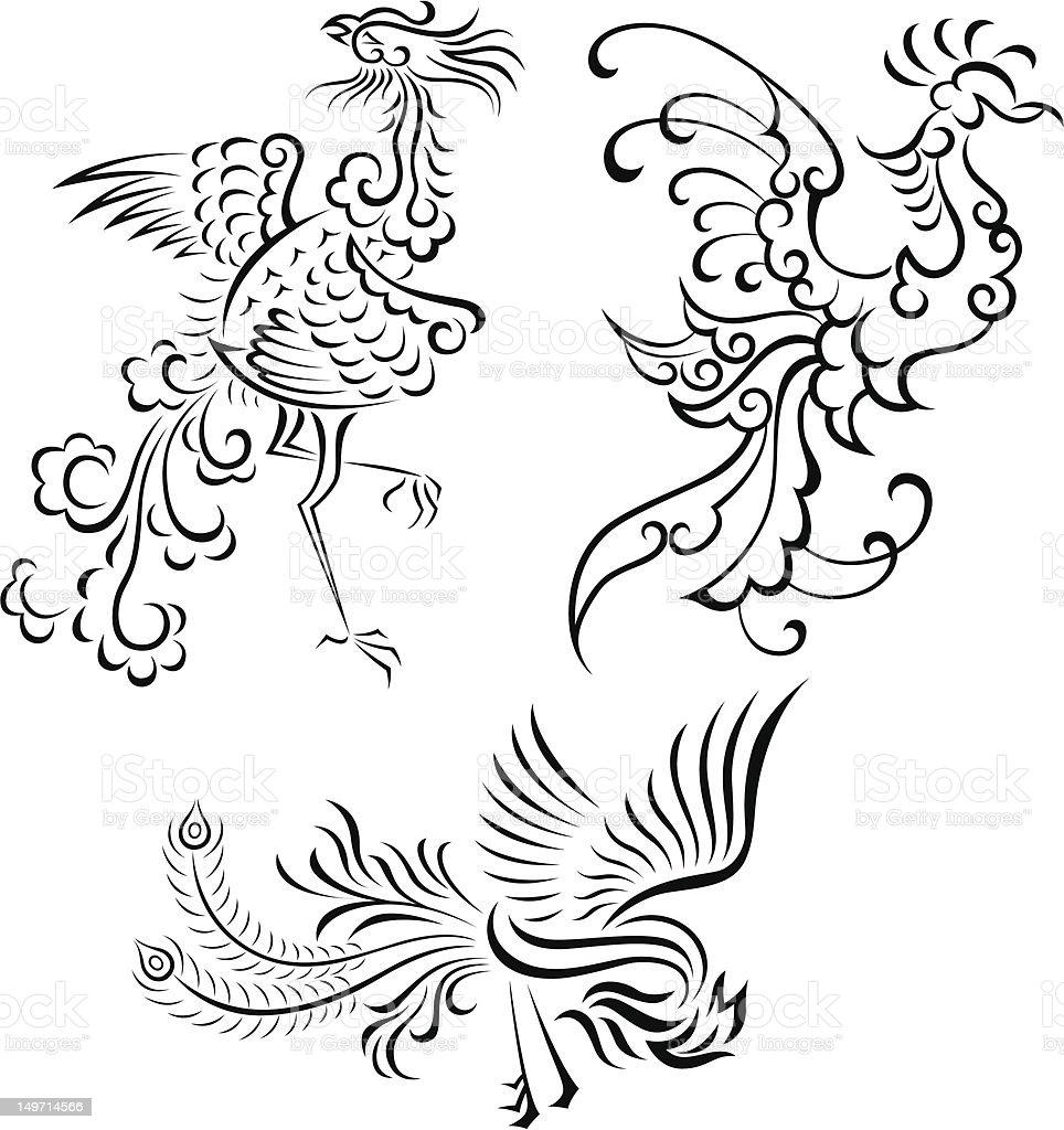 Vetores De Tatuagem Desenho De Pássaros E Mais Imagens De