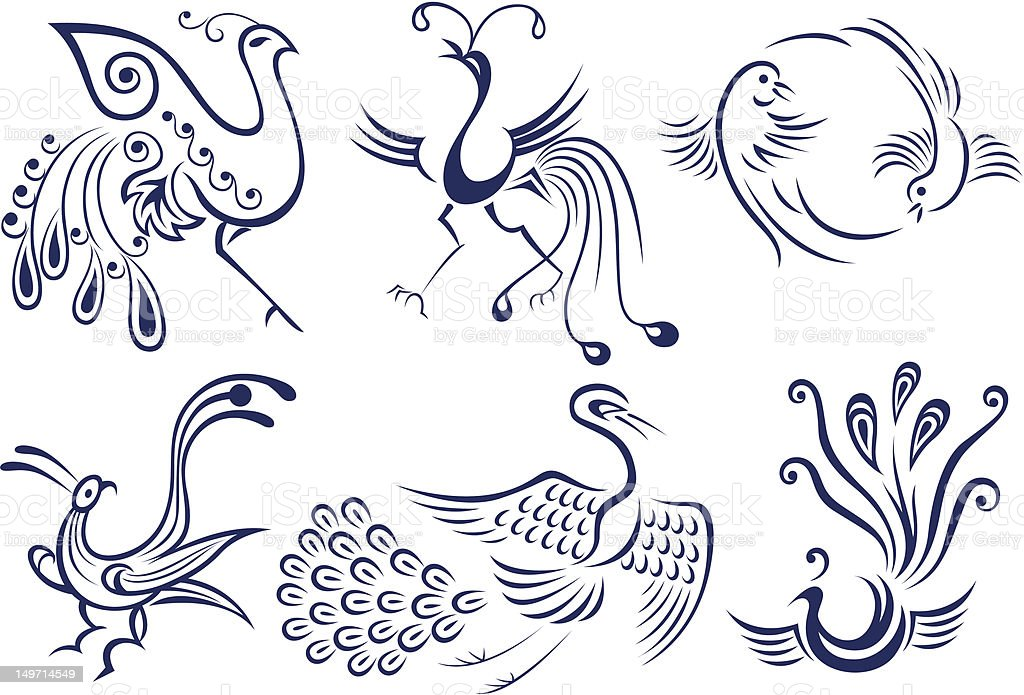 Vetores De Símbolo De Tatuagem Desenho De Pássaros E Mais