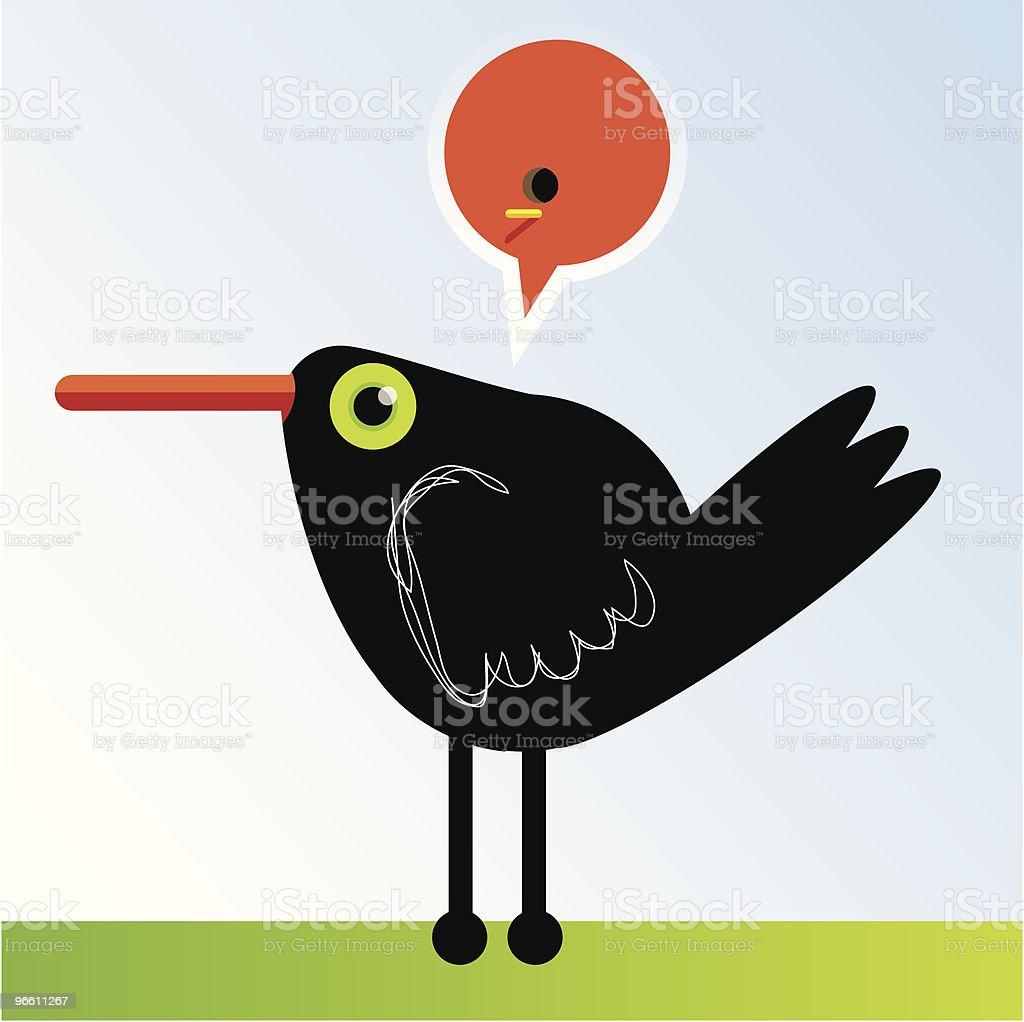 Bird thought royalty-free stock vector art