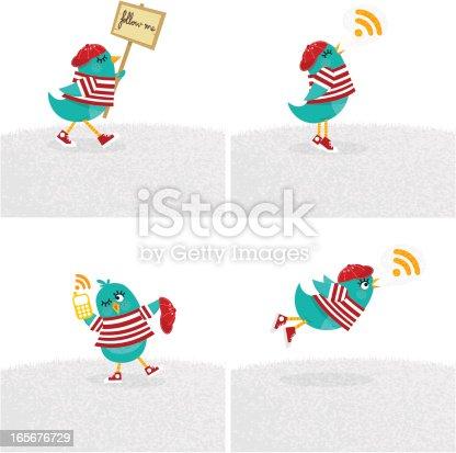 Bird, tweet, bluebird, feed, social media, text, follow, cartoon, minimil