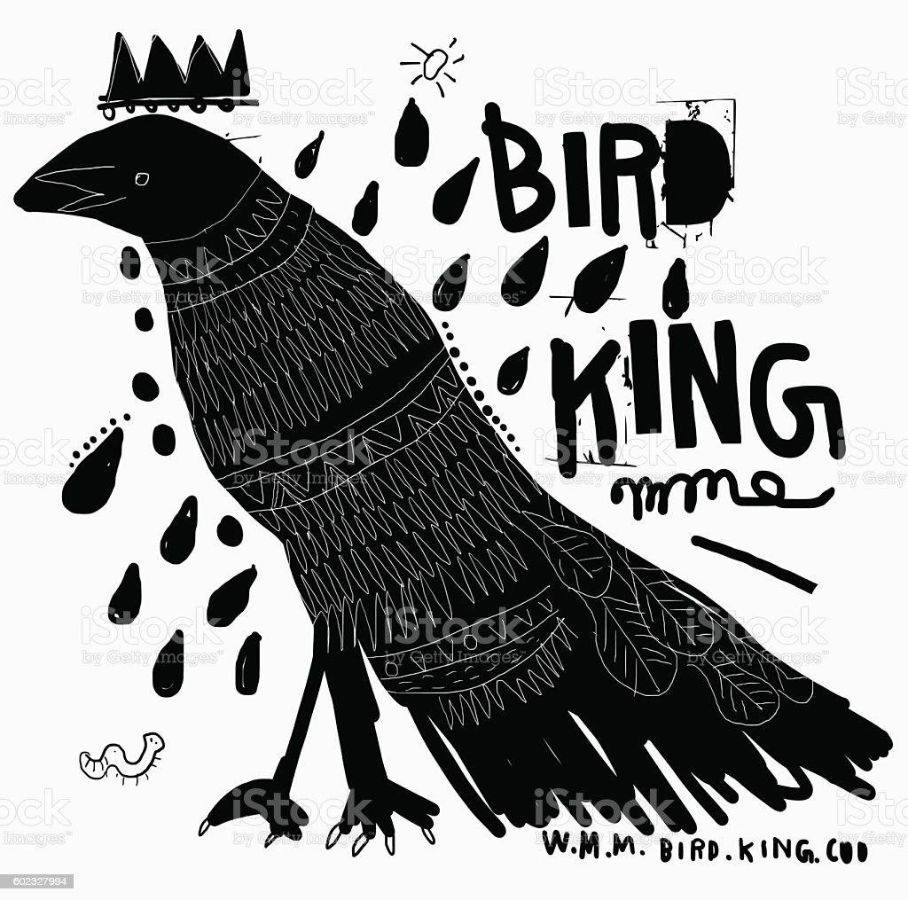 Bird vector art illustration