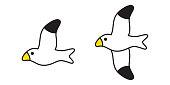 bird vector seagull icon pigeon symbol cartoon illustration design