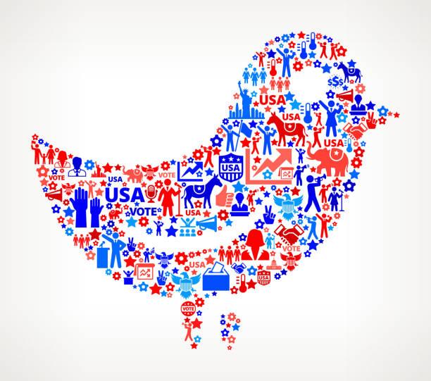 птица голосования и выборы сша отечественной значок рисунком - presidential debate stock illustrations