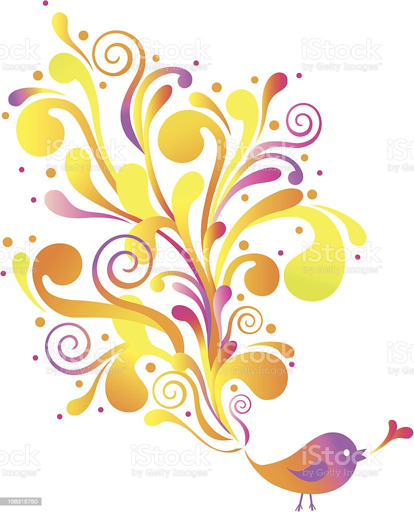 bird with swirls royalty-free bird with swirls stock vector art & more images of abstract