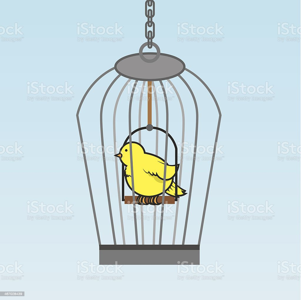Birdcage Bird royalty-free stock vector art