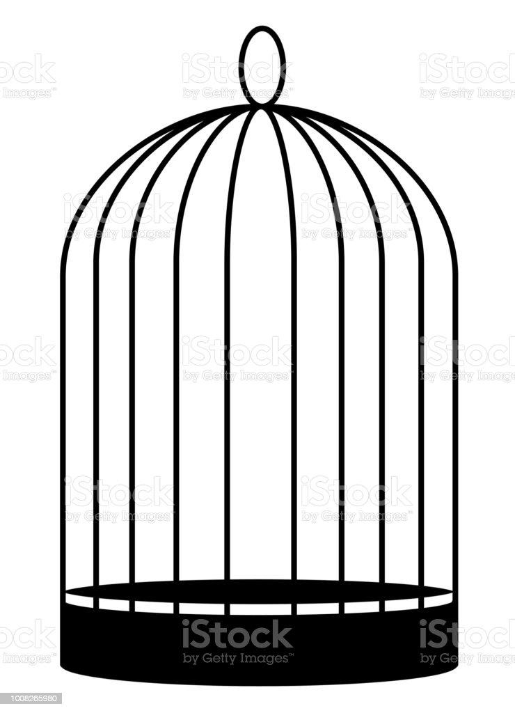 Birdcage vector art illustration