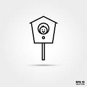 Birdhouse line icon. EPS 10 vector symbol.