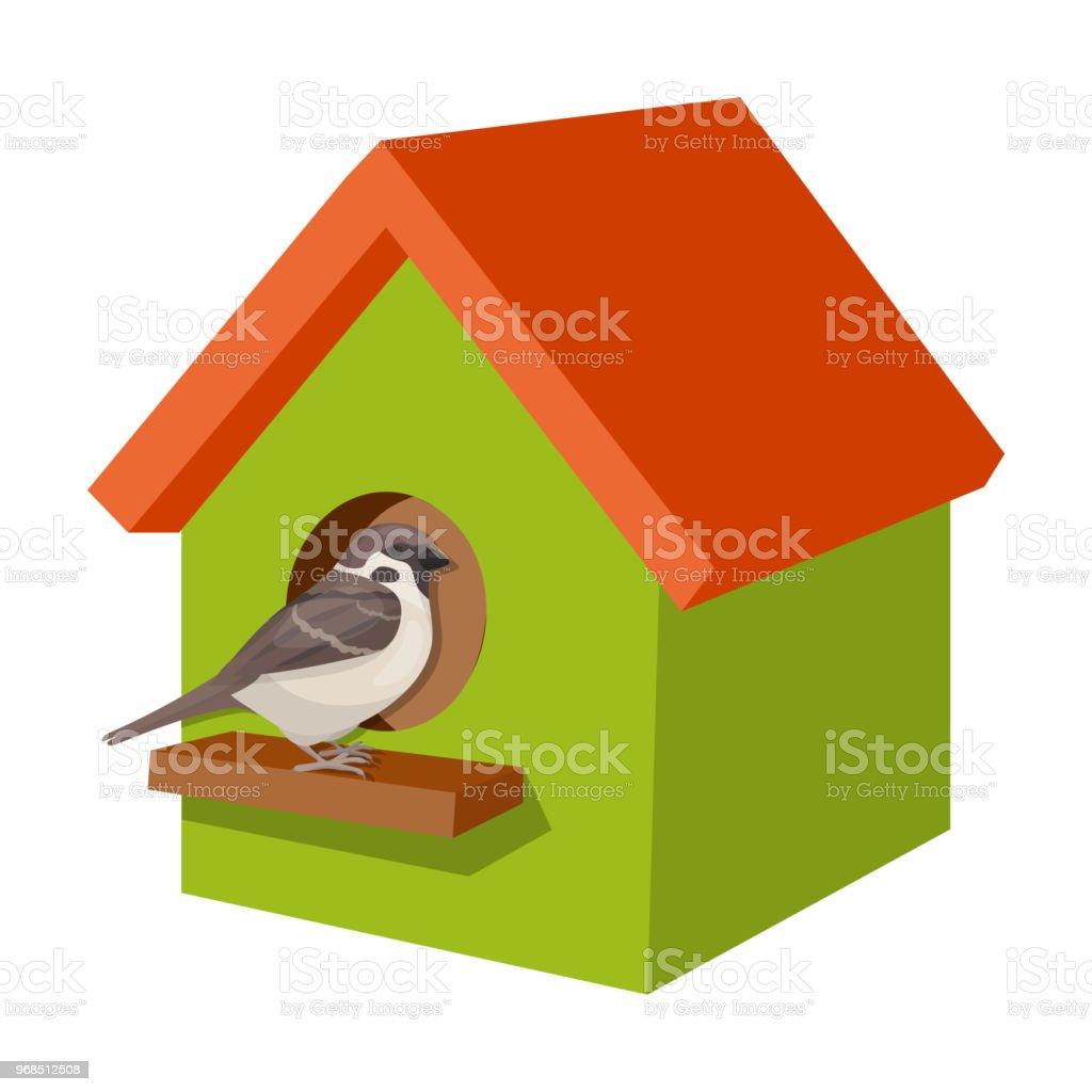 Birdhouse, single icon in cartoon style.Birdhouse, vector symbol stock illustration web. vector art illustration