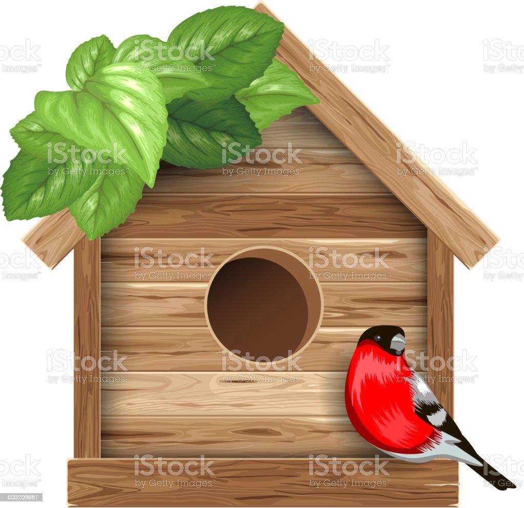 Birdhouse vector art illustration