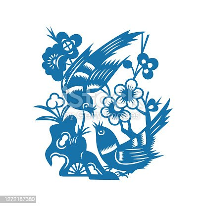 istock Birds and Flowers(China paper-cut patterns) 1272187380