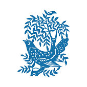 Birds and Flowers(China paper-cut patterns)