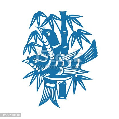 istock Birds and Flowers(China paper-cut patterns) 1272510110