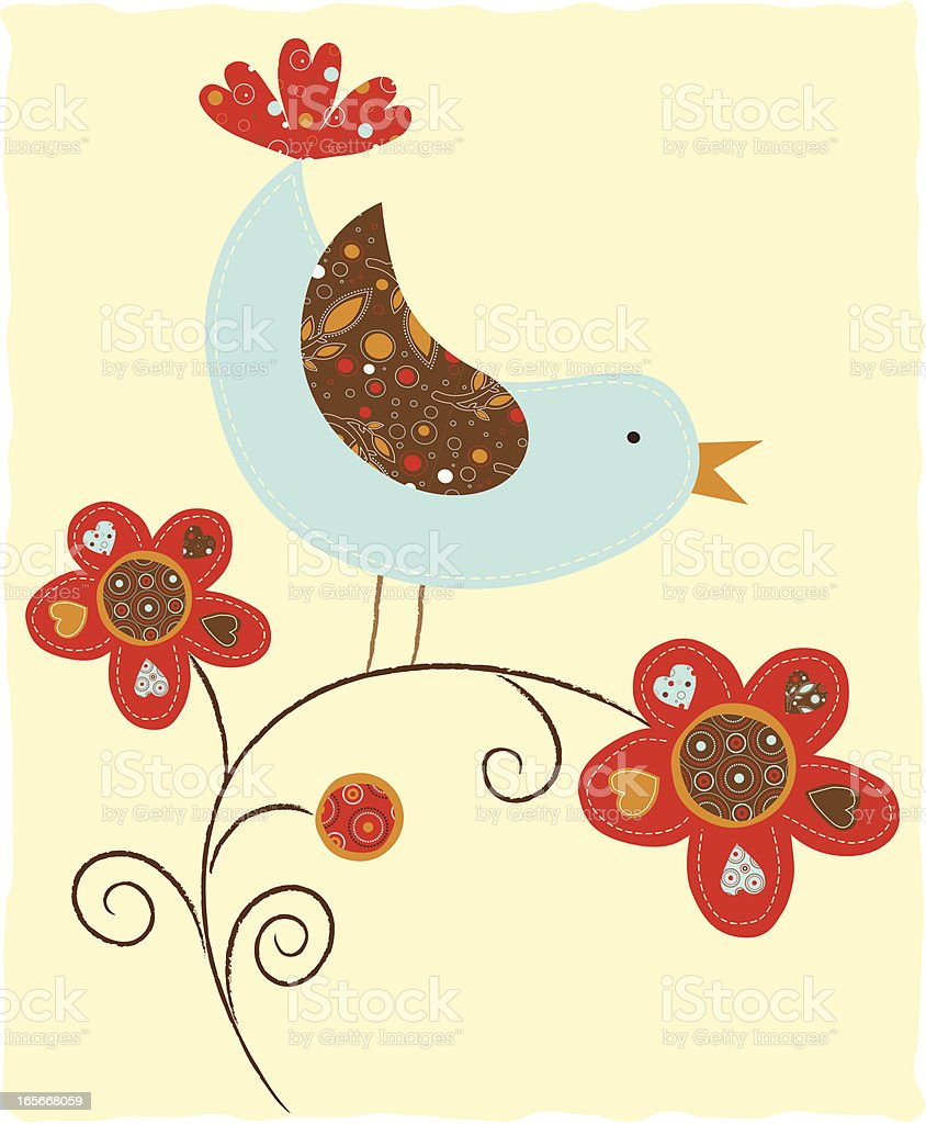 Birds and Flowers (Series) vector art illustration