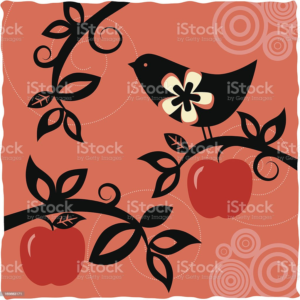 Birds and Fruits (Series) royalty-free stock vector art