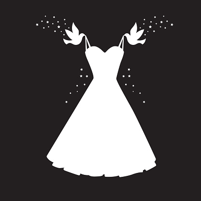 Birds Carrying Dress Icon