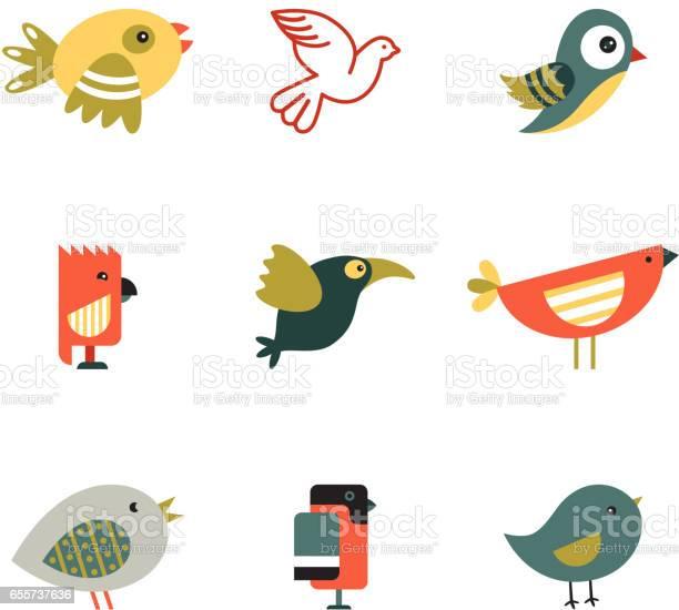 Birds different styles vector illustration vector id655737636?b=1&k=6&m=655737636&s=612x612&h=wc7oq9aczfrd jmyrrjwgtmfbbl90zk521e7wwl0eq8=