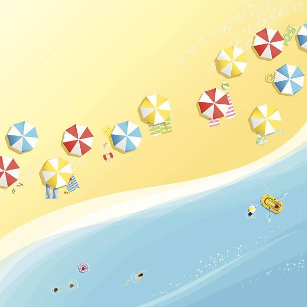 Retro Beach Illustration Royalty Free Stock Photo: Beach Towel Illustrations, Royalty-Free Vector Graphics