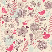 Romantic seamless pattern in vector