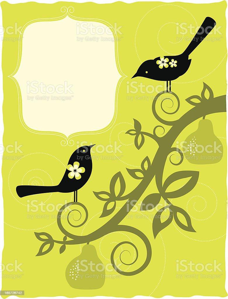Birds in love banner royalty-free stock vector art