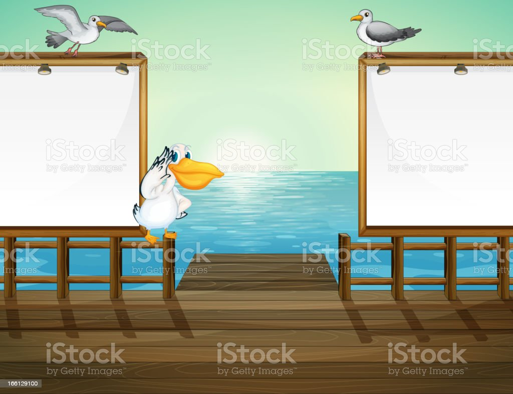 Birds in the port royalty-free birds in the port stock vector art & more images of animal
